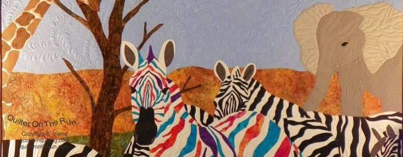 rainbow zebra elephant giraffe quilt applique